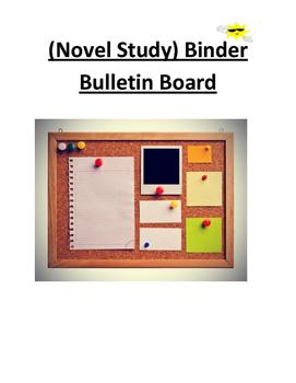 Novel Study Binder Bulletin Board Activity