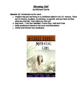 Novel Study Book Checkpoints - Morning Girl by Michael Dorris