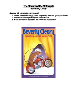 Novel Study - Book Checkpoints Mouse and the Motorcycle by Beverly Cleary