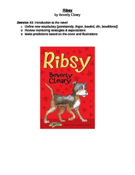 Novel Study - Book Checkpoints for Ribsy by Beverly Cleary