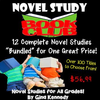 Novel Study Bundle, Purchase Novel Studies in an Bundle and Save Money!