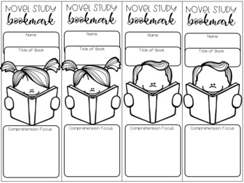 Novel Study Bookmarks FREEBIE
