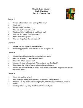 Novel Study, Breath, Eyes, Memory (by Edwidge Danticat) Study Guide