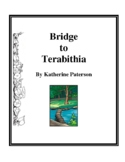 Novel Study, Bridge to Terabithia (by Katherine Paterson) Study Guide