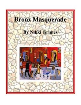 Novel Study, Bronx Masquerade (by Nikki Grimes) Study Guide