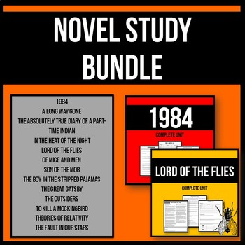 Novel Study Bundle - 13 Novel Study Printable Workbooks fo