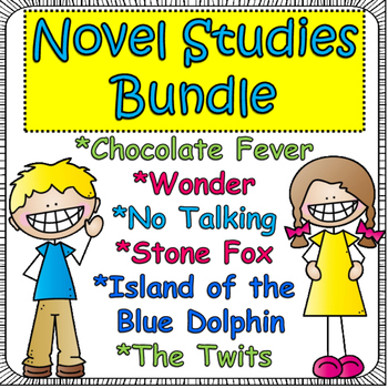Novel Study Bundle: NO Talking, Wonder,Stone Fox, Island of the Blue Dolphin...