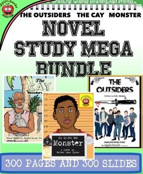 Novel Study Bundle 6-8 Grade (The Outsiders, The Cay, Monster)
