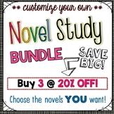 Novel Study Bundle of 3 {Customizable}