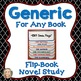 Novel Study Bundle, FlipBook Project, Activities, Generic, Printable, Digital