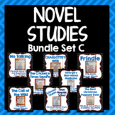 Novel Study Bundle Set C, Flipbook Projects, Activities, Literary Elements