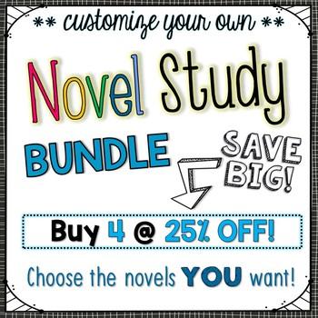 Novel Study Bundle of 4 {Customizable}