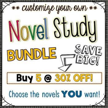 Novel Study Bundle of 5 {Customizable}