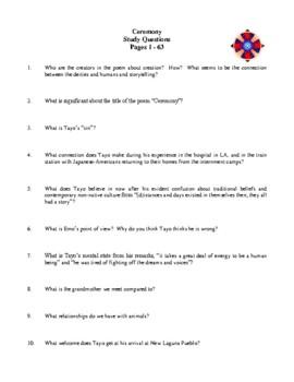 Novel Study, Ceremony (by Leslie Marmon Silko) Study Guide