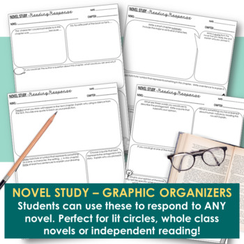 Novel Study - Chapter Response Pages For ANY Novel!