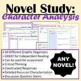 (ANY) Novel Study - Character Analysis