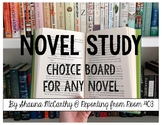 Novel Study Choice Board