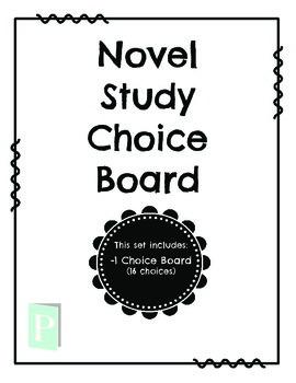 Novel Study Choice Board FREEBIE