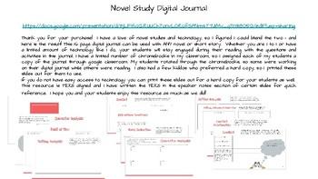 Novel Study Digital Journal