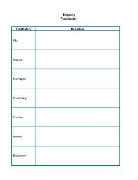 Novel Study, Dogsong (by Gary Paulsen) Study Guide