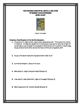 Dr. Jekyll & Mr. Hyde: Middle School Novel Study (CCSS aligned)
