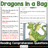 Reading Comprehension Novel Study Dragons in a Bag