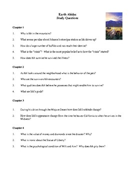 Novel Study, Earth Abides (by George R. Stewart) Study Guide