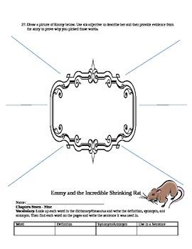 Novel Study: Emmy & The Incredible Shrinking Rat