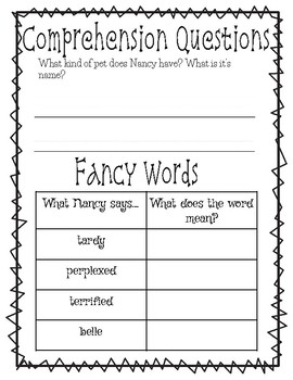 Novel Study- Fancy Nancy and the boy from Paris