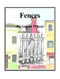 Novel Study, Fences (by August Wilson) Study Guide