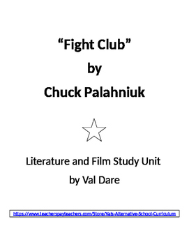 """Fight Club"" Lit and Film Study for age 18+ only."