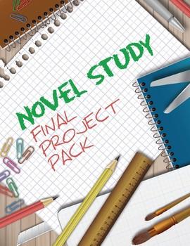 Novel Study Final Projects ~ Activity Choices and Rubrics (Editable)