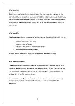 Novel Study Focus Areas