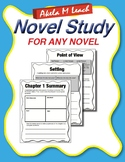 Novel Study (For Any Novel)