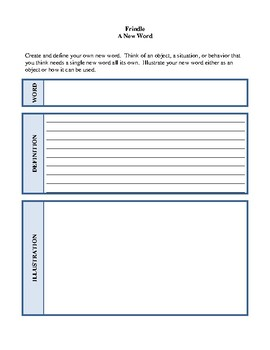 Novel Study, Frindle (by Andrew Clements) Study Guide