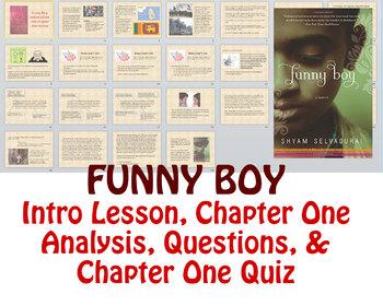 Novel Study: Funny Boy by Shyam Selvadurai - Intro/Ch.1 Lesson & Quiz