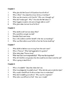 Novel Study, Gathering Blue (by Lois Lowry) Study Guide