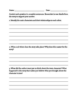 Novel Study Generic Assessment