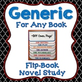 Novel Study, Generic, Flip Book Project, Writing Prompts, Vocabulary, Activities