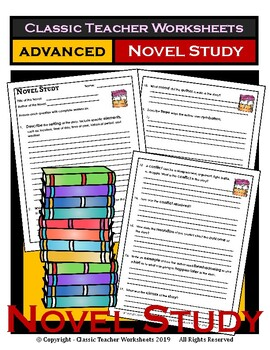 Novel Study-Generic Novel Study Questions-Advanced-Grades 4-7, 4th-7th Grade