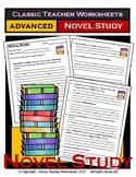 Novel Study-Generic Novel Study Questions-Advanced-Grades