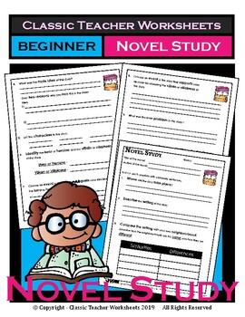 Novel Study-Generic Novel Study Questions-Beginner-Grades