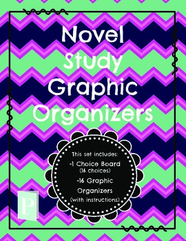 Novel Study Graphic Organizers & Choice Board