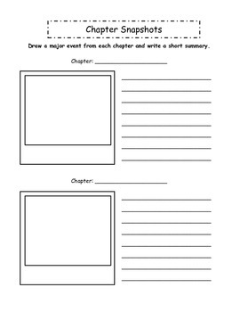Novel Study Graphic Organizers - Use with any novel!