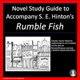 Rumble Fish Novel Study Guide With DIGITAL REMOTE READY RESOURCE