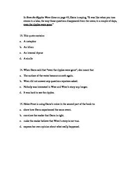 Novel Study Guide to Hidden by Helen Frost