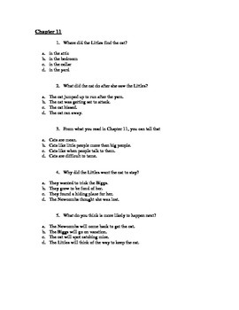 Novel Study Guide to THE LITTLES by John Peterson