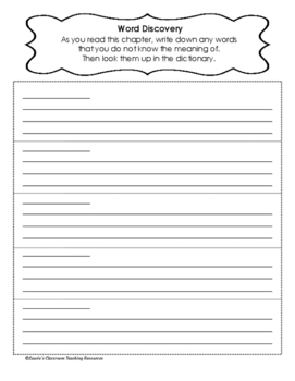 Novel Study/ Guided Reading Package for All Books