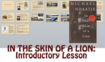 Novel Study: In the Skin of a Lion - Intro Lesson