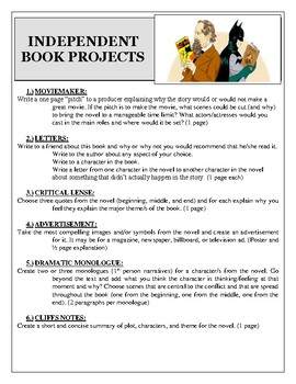 Novel Study Independent Book Projects